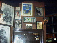 O'donoghues Bar with it's musical history accross the walls